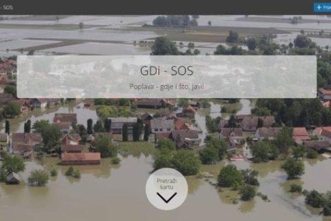 GDi interaktivna karta za dijeljenje iskustva poplava
