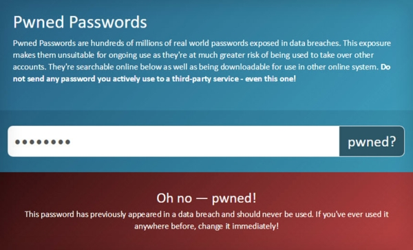 Alat Pwned Passwords  dodao nove značajke