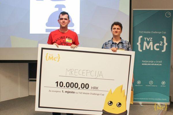 TVZ Mc2: prvo mjesto i 10.000 kuna za aplikaciju mRecepcija