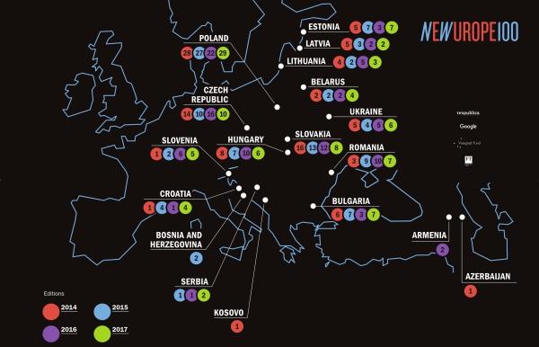 Četiri inovatora iz Hrvatske u New Europe 100