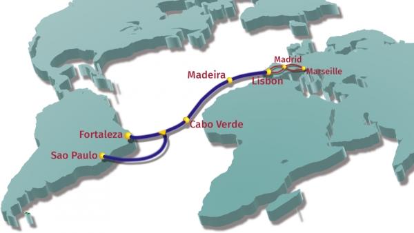 Podvodni optički kabel između Europe i Južne Amerike
