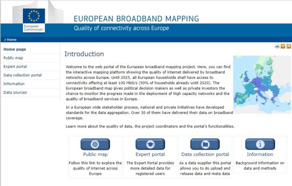 EU portal mapiranja broadbanda