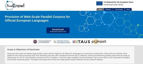 ParaCrawl EU platforma za strojno prevođenje