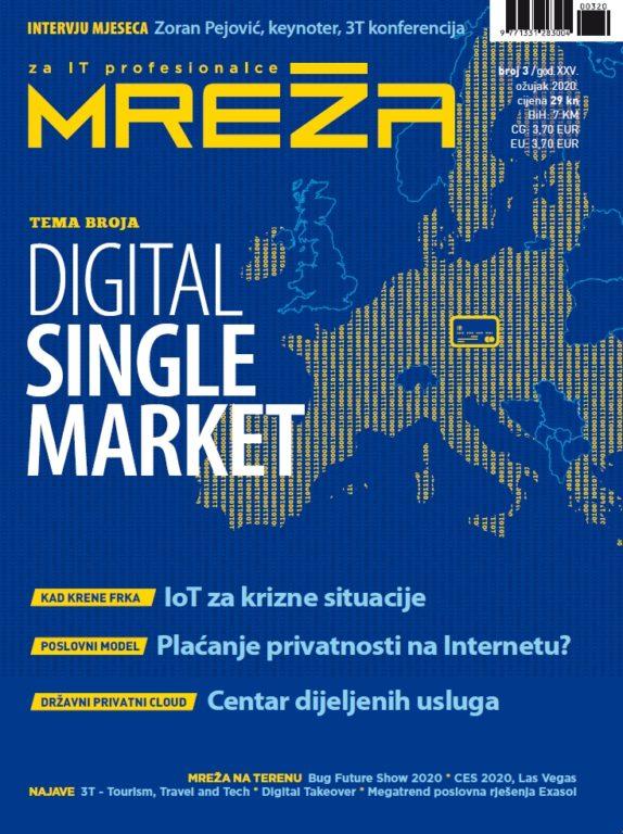 Mreža 3/2020: tržište EU, fintech, privatnost, IOT…