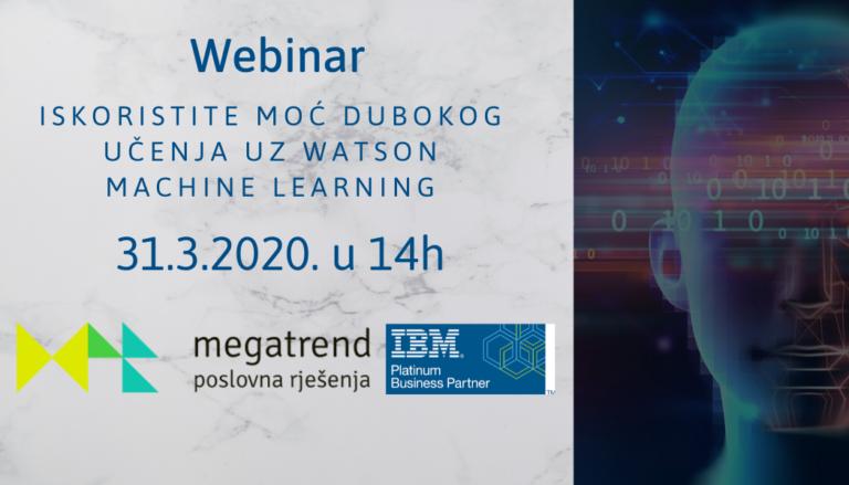 Megatrend organizira besplatan webinar o IBM Watson strojnom učenju