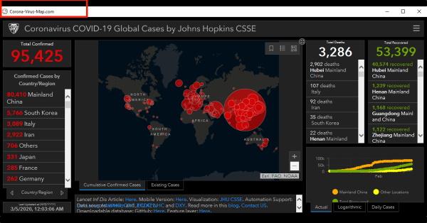 Hakeri koriste mape širenja covid-19 za zlonamjerne napade