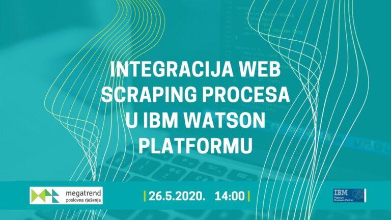 Webinar – Integracija web scraping procesa u IBM Watson platformu