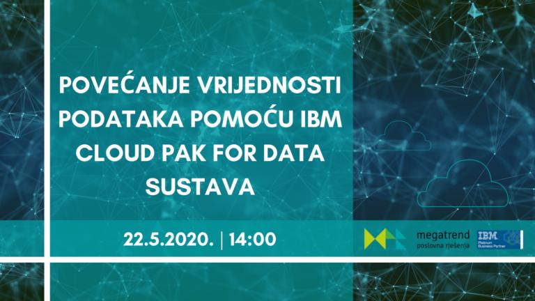 Webinar: Povećanje vrijednosti podataka pomoću IBM Cloud Pak for Data sustava