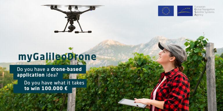 Natječaj MyGalileoDrone za razvoj usluga bespilotnim letjelicama