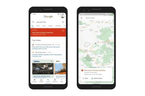 Googleovo kartiranje požara uz pomoć satelitskih podataka