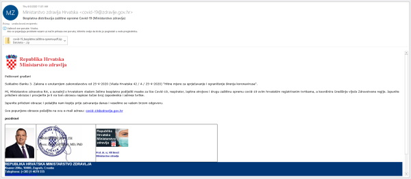 Nacionalni CERT upozorava na phishing napad