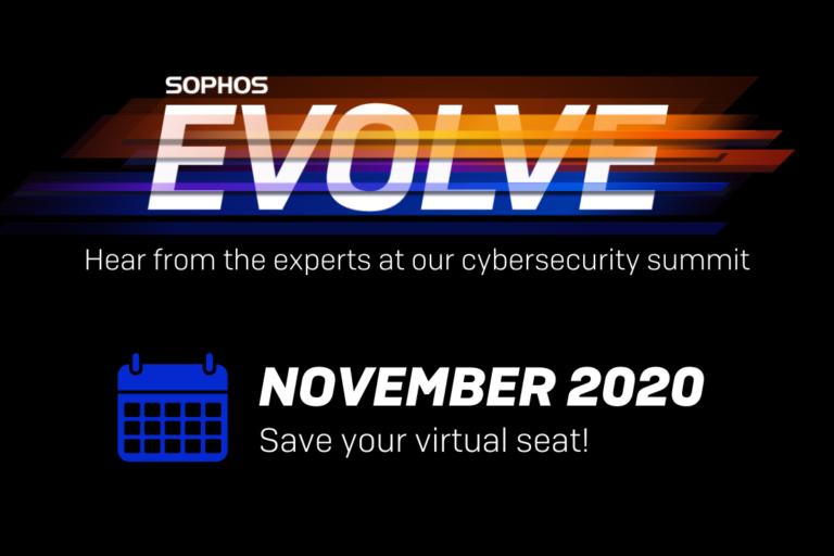 Uskoro Sophosov online summit o računalnoj sigurnosti – Sophos Evolve