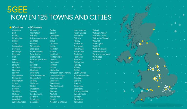 EE proširio 5G mrežu na 13 gradova Velike Britanije
