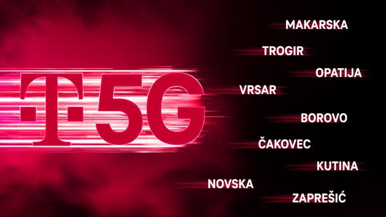 5G mreža Hrvatskog telekoma  u 24 grada