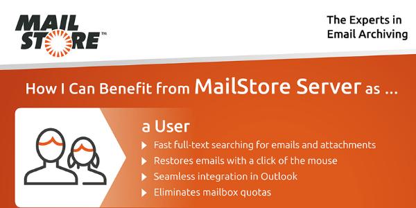 Saznajte više o sigurnosti i kontroli e-pošte – MailStore Server